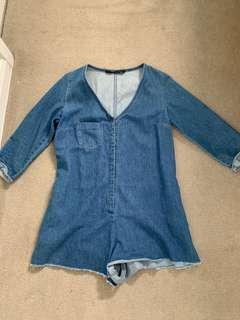 Zara denim play suit