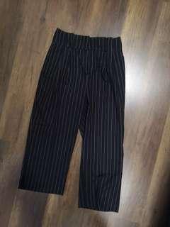 Monki high waisted stripe pants formal