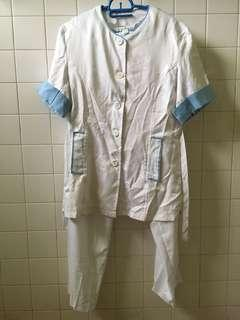 preloved spa/salon uniform (L)