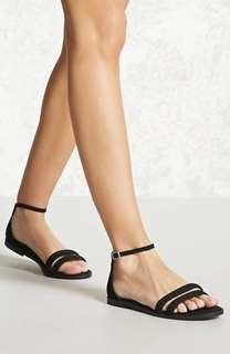 BNWT Braided Faux Suede Sandals