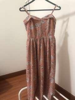 MDS long floral dress