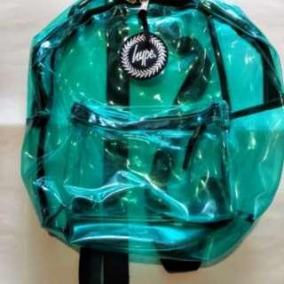 英國潮牌Hype 藍色透明後背包