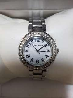 🚚 Authentic Anne Klein watch for ladies with stainless steel bracelet and diamond