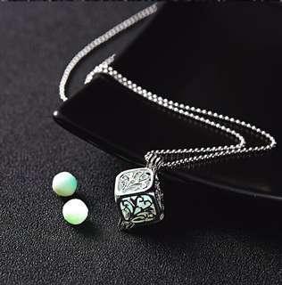 🚚 Glow in the dark pendant & chain