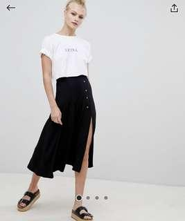 🚚 Plus size Instock ASOS midi split skirt