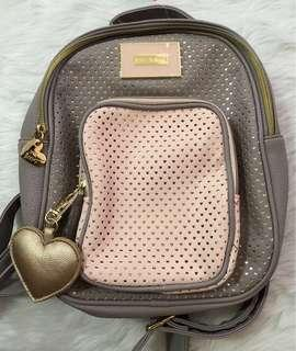 Betsey Johnson Heart Quilted Mini Backpack