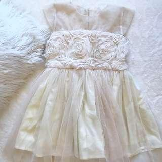 Mini Floral Lace Gown for Girls