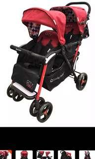 🚚 Twin Stroller Lucky Baby