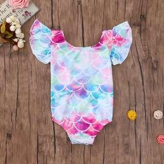 Baby Girl one piece Swimming Romper. We have size 80cm, 90cm, 100cm