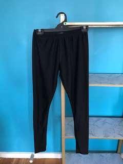 Glassine shiny leggings size 8