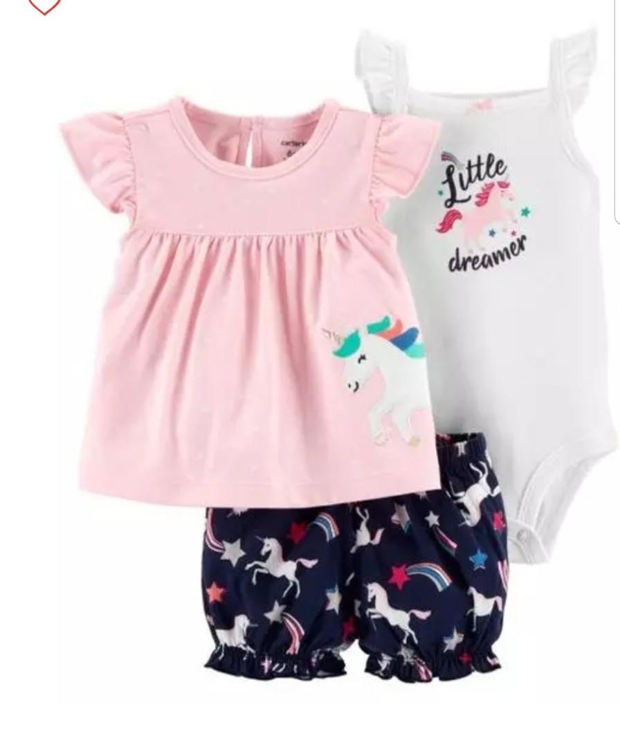 748c06d1d834 12M  Brand new Carter s 3-Piece Bodysuit   Shorts Set For Baby Girl ...