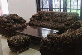 Sofa leopard full set
