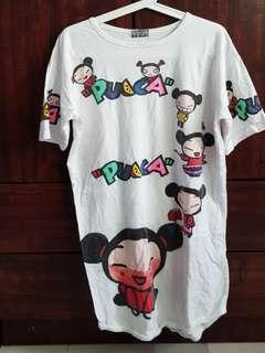 🚚 Pucca white cotton pyjamas dress