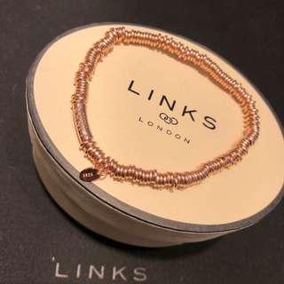 Links Of London 玫瑰金色手鏈