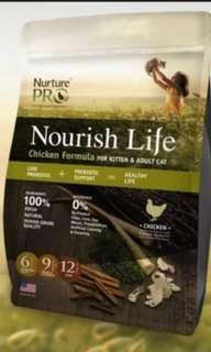 Dry Cat Food! Nurture Pro Nourish Life!