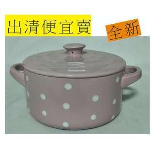 120元 ~ PLAZA粉彩點點小陶鍋(含蓋)全新 下標前請先詢問有無貨,因有多個平台銷售
