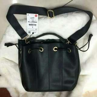 Zara Bucket Bag With Stitching