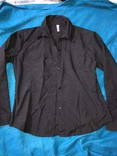 Black Polo Longsleeve Formal Wear