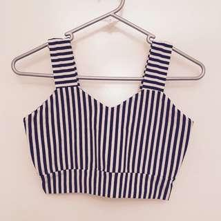 Strip crop top