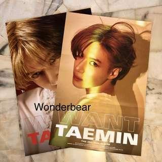 TAEMIN Want album - Official poster 102*60cm