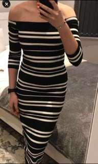 🚚 Zara off shoulder bodycon dress