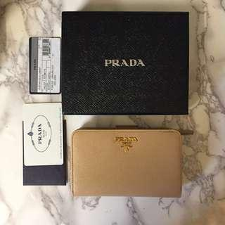Authentic Prada Women Wallet Noisette 1ML225