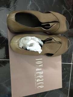 高級超軟羊皮粗跟防滑涼鞋