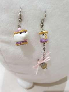 Beauty and the beast cup earring