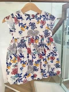 🚚 M&S Beautiful Floral Dress with Matching Knickers