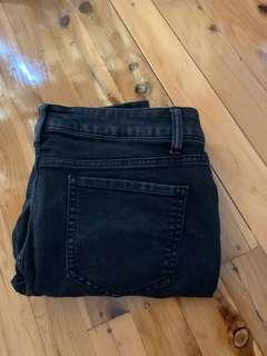 Black Ripped Kmart Jeans