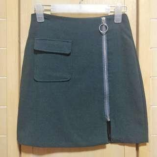 Stephanie O-ring Zip-up Skirt