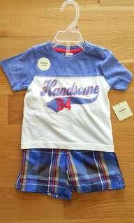 🚚 Old Navy boy's tee with shorts set