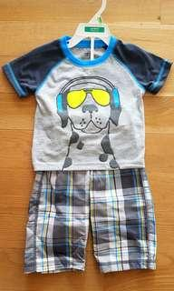 🚚 Carter's boy's tee with shorts set