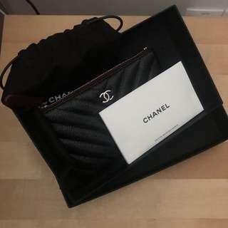 Chanel Mini O Case in caviar