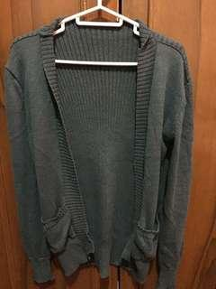Comfy Gray Knit Sweater