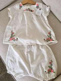 Next Baby 2-piece linen top and shorts set