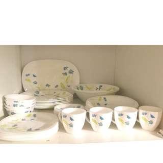 Luminarc Dish Set Plate, Bowl, Platter, Cup. Discounted