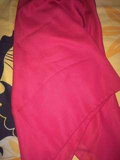 Kerudung segiempat pink fanta
