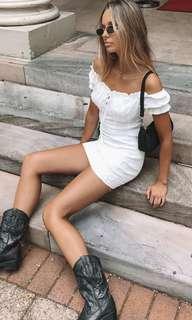 White Off-the-shoulder Dress