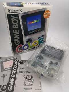 Gameboy Color Game Boy Boxed Clear