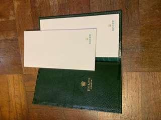 🚚 rolex note pad