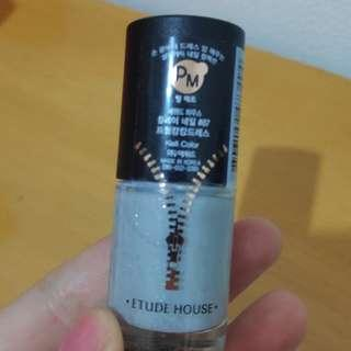 Etude house dress room silver glitter nail liqueur