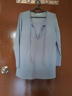 Maternity and nursing long sleeve blouse (Size S)