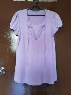 Maternity and nursing blouse short sleeve (Size S)