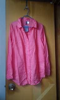 H&M ( Divided) Shirt - rose pink (Xs)