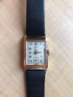 Gents 1954 Record Wrist Watch 14ct Rose Gold