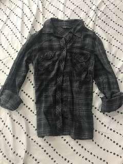 Dark grey Checkered Shirt