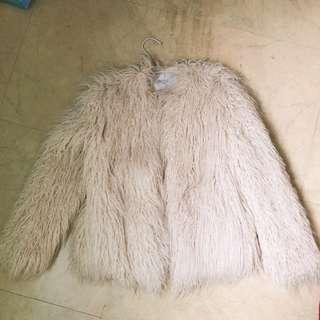 🚚 Zara 仿羊毛大衣外套
