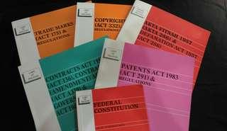 Law Books  contract patent copyright federal constitution fitnah