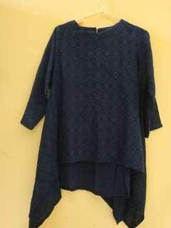 Batwing blouse navy